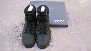 NIB ECCO Rugged Track Hydromax Mens Black Ankle Boots size EU 42(US 8-8.5)