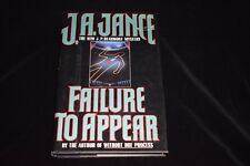 J. P. Beaumont Mystery: Failure to Appear by J. A. Jance 1993, HC/DJ - SIGNED