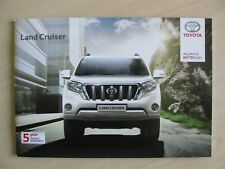 Toyota Land Cruiser UK Sales Brochure (August 2015)