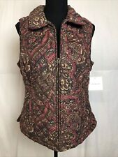 Croft & Barrow Womens Paisley Quilted Vest Size S NWT