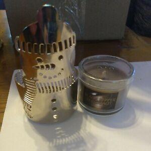 Slatkin & Co. Snowman Candle Holder Bath & Body Works Votive W Candle NEW