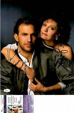 Kevin Costner + Susan Sarandon Signed 11x14 Photo w/ JSA COA Q49659 Bull Durham