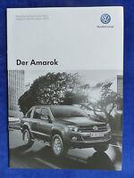 VW Amarok - Preisliste - Prospekt Brochure 07.2013