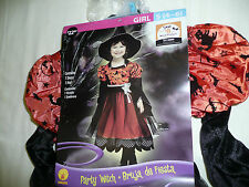 Girls Size 4-6 Party Witch Halloween Costume