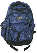 Polo Sport Ralph Lauren Vtg Navy Backpack Bag Flag Spell Out VGUC