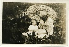 Mami, Baby, Sonnenschirm, 2 Orig.-Photos um  1930