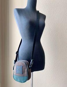 CHANEL Authentic Vintage Sport Line Logo Crossbody Shoulder Bag Nylon Canvas