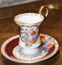 Ardalt Demi Tasse Cup and Saucer Vintage Victorian Grecian Ladies Hand Painted