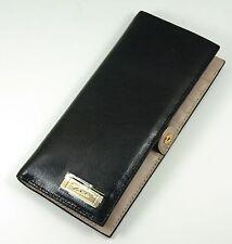 TUMI Seurat Leather Slim Bifold Wallet  Credit Card Case Black