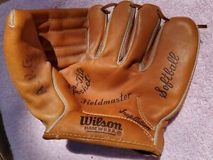 Vintage Wison A9830 Fieldmaster Leather RHT Pitchers Softball Baseball Glove