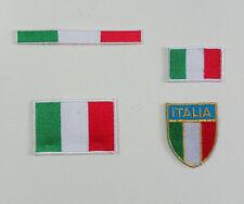 PATCH APPLICAZIONE RICAMATA TERMOADESIVA  TRICOLORE SCUDETTO ITALIA MARBET