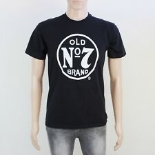 Jack Daniels Mens Size S M Crew Neck Black T Shirt Top