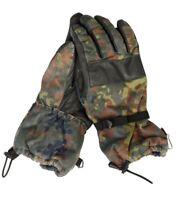 Original Bundeswehr Tactical Winter Handschuhe gefüttert Echt Leder/Flecktarn