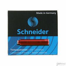 Pk/6 Schneider Fountain Pen Ink Cartridges, Red