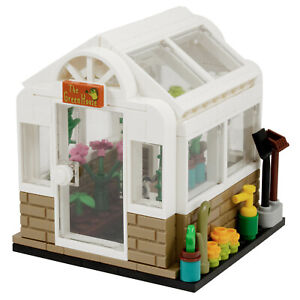 Greenhouse Garden Plant Shed | Custom kit made with real LEGO Bricks