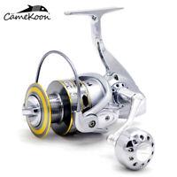 CAMEKOON Spinning Fishing Reel w/ Powerful Metal Body 5.2:1 Saltwater Surf Reel