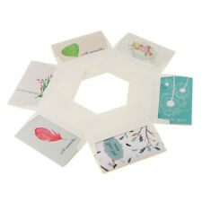 6 Sets Paper in Sympathy Cards Thank You Cards Envelopes Party Gifts