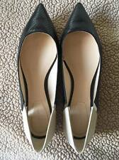 Zara Woman Flat Shoes Casual Fashion Size 41 Black and Beige Womens Flats NEW
