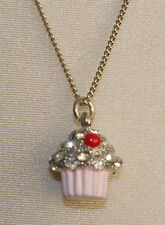 Accessorize Mini Cupcake Necklace NWT