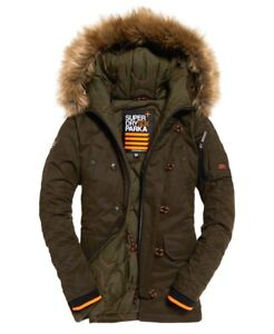 Superdry Mens SD-3 Parka Army Green Jacket Olive Expedition  SD-X