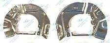 For BMW 5 Series E60 E61 2x Front Brake Disc Dust Cover Back Plate Shields Pair