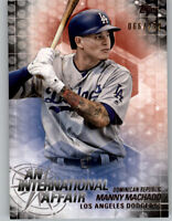 Manny Machado 2018 Topps Update INTERNATIONAL AFFAIR Black /299 Dodgers #IA-18