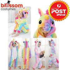 Rainbow Unicorn Onesie0 Child Unisex Kigurumi Cosplay Costume Pyjamas Pajamas