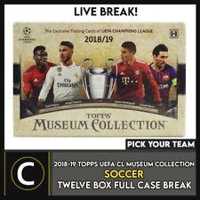 2018-19 TOPPS UEFA MUSEUM футбол 12 коробка (полный чехол) перерыв #S125 — выбирайте свою команду
