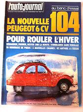 L'AUTO-JOURNAL du 11/1976; Essai 104/ Pour rouler l'hiver/ VW Sirocco GLI/ Jeep