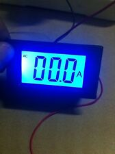 AC 220V 0-200A CT Digital LCD Blue DISPLAY PANEL AMP meter WITH 0-200A SPLIT CT