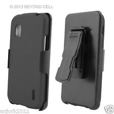 LG Nexus 4 E960 Google Phone Hard Case+Holster Combo w/ Swivel Belt Clip Gray