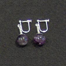 Clip On - Purple Potara DBZ DragonBallZ Zarbon Amethyst Earrings Ear Rings