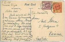 CEYLON - POSTAL HISTORY:  POSTCARD to ITALY 1927