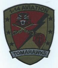 "1-14th AVIATION ""TOMAHAWKS"" subdued patch"