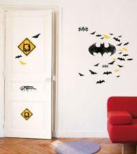 Kinder Wandtattoo Batman Logo Warner Aufkleber Wandsticker Sticker Kinderzimmer