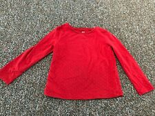 H&M Red Glitter Spotted Long-Sleeved Girls Shirt 2-4Y