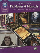 Top Hits from TV, Movies & Musicals Alto Saxophone Sax Sheet Music Book & CD