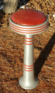 NICE VINTAGE SODA FOUNTAIN BAR STOOL 50'S CHICAGO HARDWARE WOOLWORTH'S