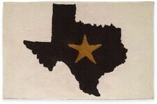 Avanti Lone Star State Texas Bath Rug Ivory & Black Rectangular Bathroom Mat NEW