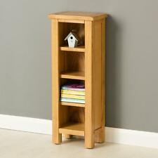Poldark Oak DVD Stand / Light Oak Small Narrow Bookcase with Adjustable Shelves