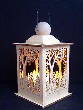 16cm tamaño Linterna con led vela Farola madera muñeco de nieve Soporte 12098