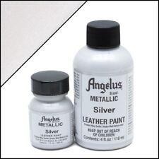 Angelus Metallic Silver acrylic leather paint 1 oz.