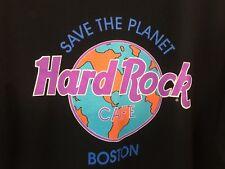 Hard Rock Cafe Save the Planet Boston T-Shirt - Black - Size XL