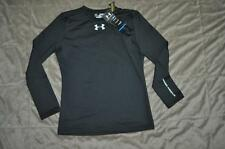 Under Armour Girls Cold Gear Fitted Long Sleeve Crew 1221788 001 NWT Youth M