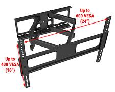 Full Motion TV Wall Mount LCD LED 48 50 55 60 65 70 Double Arm Tilt and Swivel