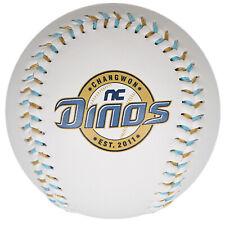 NC DINOS D Logo Baseball Korea Baseball League White KBO Yellow Version