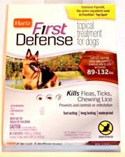 3 Hartz First Defense Flea Tick Lice LARGE XL DOGS Topical Treatment 89-132 lbs