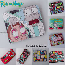 Cartoon Rick and Morty Wallet Bifold Purse Anime Money Bag Coin Bag Gift 10Style