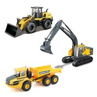 Bburago Diecast Construction 1:50 Volvo New Holland Excavator Loader Hauler