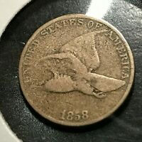 1858 FLYING EAGLE CENT NICE COIN